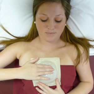 Woman Using MammaCare to learn what breast cancer feels like